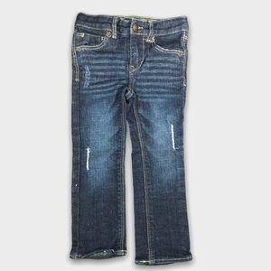 Distressed Slim Straight Levis Jeans